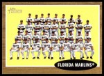 2011 Topps Heritage #192   Marlins Team Front Thumbnail