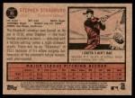 2011 Topps Heritage #35  Stephen Strasburg  Back Thumbnail