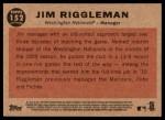 2011 Topps Heritage #152  Jim Riggleman  Back Thumbnail