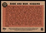 2011 Topps Heritage #137 BR  -  Babe Ruth Babe And Mgr. Huggins Back Thumbnail