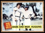 2011 Topps Heritage #137 BR  -  Babe Ruth Babe And Mgr. Huggins Front Thumbnail