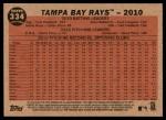 2011 Topps Heritage #334   Devil Rays Team Back Thumbnail