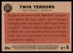 2011 Topps Heritage #351   -  Justin Morneau / Joe Mauer Twin Terrors Back Thumbnail