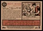 2011 Topps Heritage #304  Brett Myers  Back Thumbnail