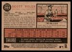 2011 Topps Heritage #205  Scott Rolen  Back Thumbnail