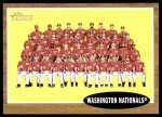 2011 Topps Heritage #206   Nationals Team Front Thumbnail