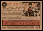2011 Topps Heritage #380  Tim Hudson  Back Thumbnail