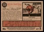 2011 Topps Heritage #268  Ervin Santana  Back Thumbnail