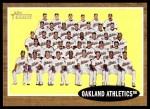 2011 Topps Heritage #384   Athletics Team Front Thumbnail