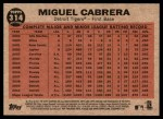 2011 Topps Heritage #314   -  Miguel Cabrera Cabrera's Power Back Thumbnail