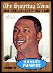 2011 Topps Heritage #393   -  Hanley Ramirez All-Star Front Thumbnail