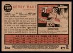 2011 Topps Heritage #202  Corey Hart  Back Thumbnail