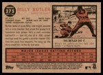 2011 Topps Heritage #275  Billy Butler  Back Thumbnail