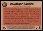 2011 Topps Heritage #263   -  Josh Hamilton / Nelson Cruz Rangers Danger Back Thumbnail