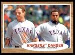 2011 Topps Heritage #263   -  Josh Hamilton / Nelson Cruz Rangers Danger Front Thumbnail