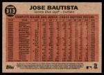 2011 Topps Heritage #313   -  Jose Bautista Bautista Blasts 50th Back Thumbnail