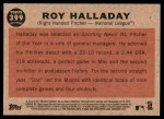 2011 Topps Heritage #399   -  Roy Halladay All-Star Back Thumbnail