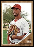 2011 Topps Heritage #413  Chris Young  Front Thumbnail