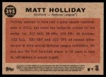 2011 Topps Heritage #395   -  Matt Holliday All-Star Back Thumbnail