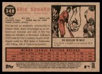 2011 Topps Heritage #348  Eric Sogard  Back Thumbnail