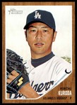 2011 Topps Heritage #280  Hiroki Kuroda  Front Thumbnail
