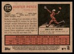 2011 Topps Heritage #354  Hunter Pence  Back Thumbnail
