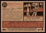 2011 Topps Heritage #276  Darwin Barney  Back Thumbnail