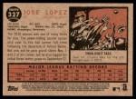 2011 Topps Heritage #327  Jose Lopez  Back Thumbnail