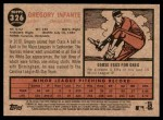 2011 Topps Heritage #326  Gregory Infante  Back Thumbnail