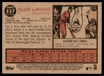 2011 Topps Heritage #337  Adam LaRoche  Back Thumbnail