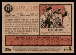 2011 Topps Heritage #227  Cliff Lee  Back Thumbnail