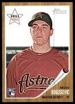 2011 Topps Heritage #204  Brian Bogusevic  Front Thumbnail