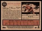 2011 Topps Heritage #335  Austin Jackson  Back Thumbnail