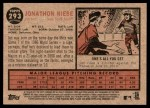 2011 Topps Heritage #293  Jonathon Niese  Back Thumbnail