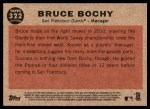 2011 Topps Heritage #322  Bruce Bochy  Back Thumbnail