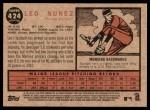 2011 Topps Heritage #424  Leo Nunez  Back Thumbnail