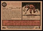 2011 Topps Heritage #405  Gio Gonzalez  Back Thumbnail