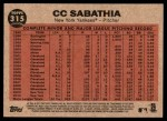 2011 Topps Heritage #315   -  C.C. Sabathia Sabathia Tosses a Curve Back Thumbnail