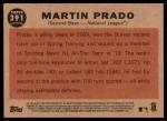 2011 Topps Heritage #391   -  Martin Prado All-Star Back Thumbnail