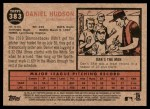 2011 Topps Heritage #383  Daniel Hudson  Back Thumbnail
