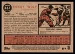2011 Topps Heritage #361  Randy Wolf  Back Thumbnail