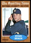 2011 Topps Heritage #394   -  Ryan Braun All-Star Front Thumbnail
