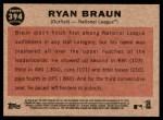 2011 Topps Heritage #394   -  Ryan Braun All-Star Back Thumbnail