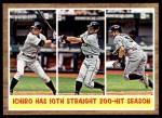 2011 Topps Heritage #317   -  Ichiro Suzuki Ichiro has 10th Straight 200-Hit Season Front Thumbnail