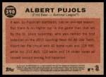 2011 Topps Heritage #390   -  Albert Pujols All-Star Back Thumbnail