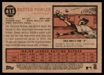 2011 Topps Heritage #415  Dexter Fowler  Back Thumbnail