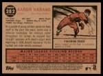 2011 Topps Heritage #282  Aaron Harang  Back Thumbnail