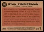 2011 Topps Heritage #392   -  Ryan Zimmerman All-Star Back Thumbnail