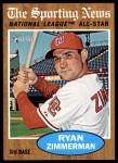 2011 Topps Heritage #392   -  Ryan Zimmerman All-Star Front Thumbnail