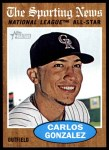 2011 Topps Heritage #396   -  Carlos Gonzalez All-Star Front Thumbnail